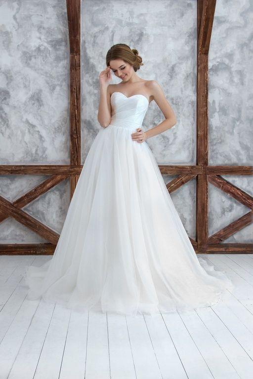 Самые красивые свадебные платья а-силуэт