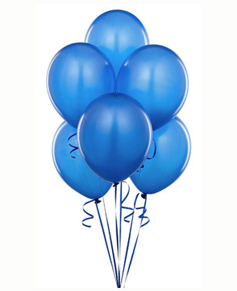 Solid Color Light Blue Latex Balloons