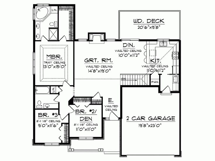 Single floor house plan add patio in backyard nook add for Patio home plans ranch