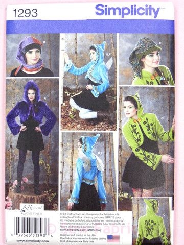 Simplicity 1293 Sewing Pattern - Misses' Fantasy Costume Jackets, Wing – Sew Fabric - Dressmaking Creativity & Excellence