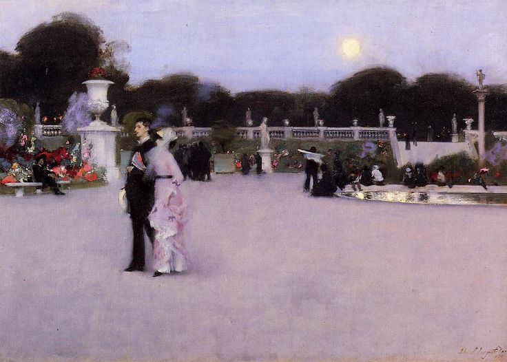 The Luxembourg Gardens at Twilight by John Singer Sargent, 1879