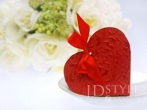 Pudełeczko dla gości, serduszko czerwone - 10szt - śliczny prezent, dzięki któremu podziękujemy gościom za przybycie.