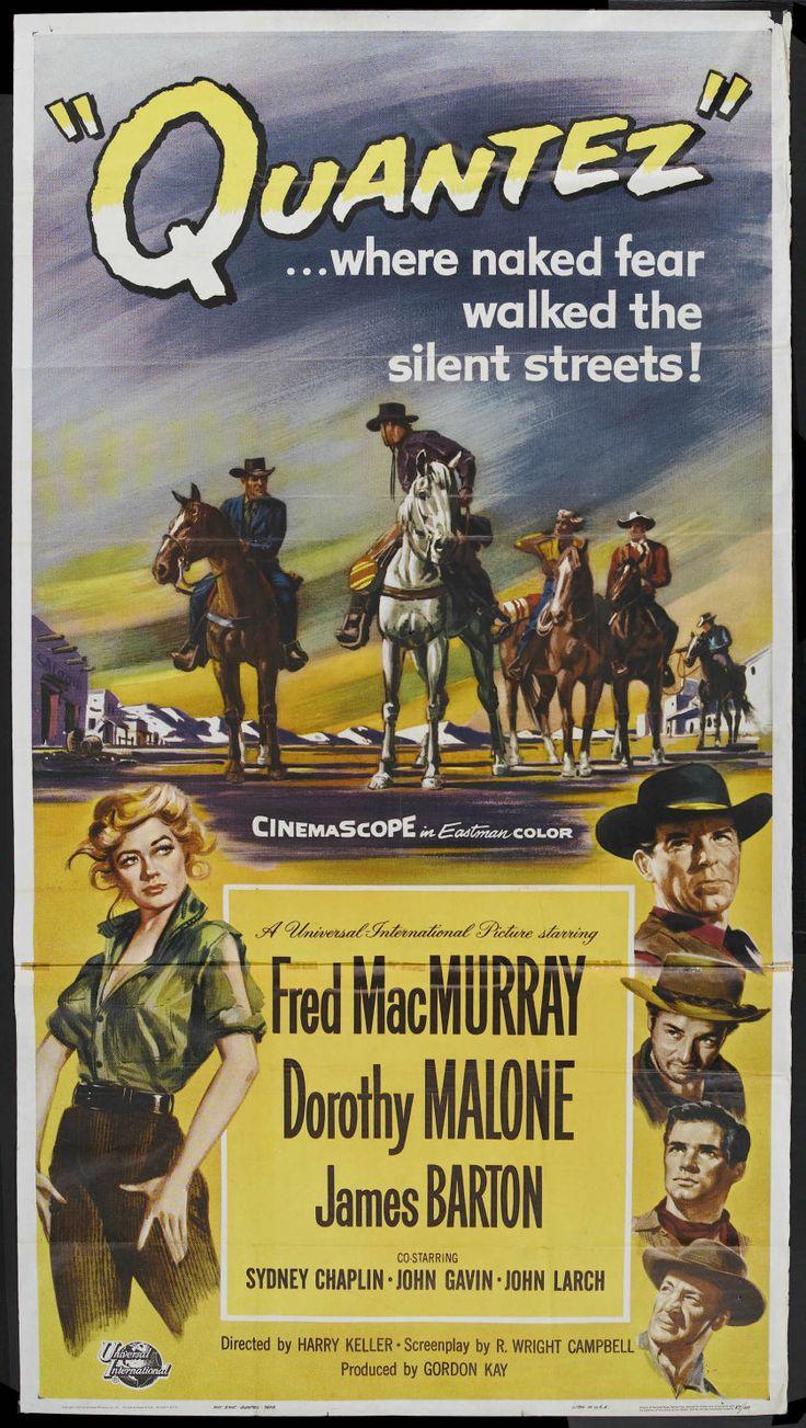 Movie PostersWestern Quantez Universal International Three Sheet X Starring Fred MacMurray Dorothy Malone James Ba