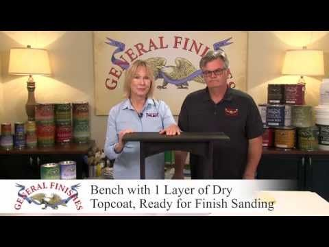 How To Hand Apply General Finishes Water Based Wood Stain - YouTube