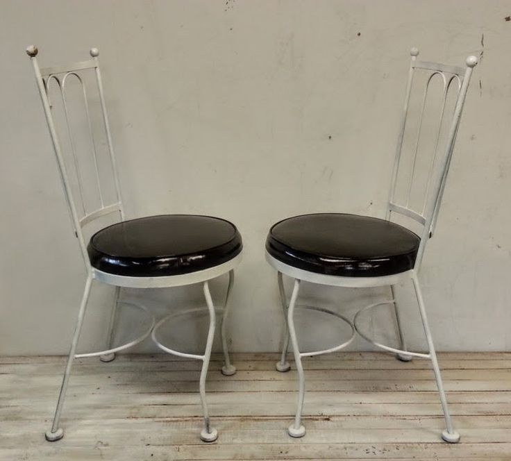 Black and white bistro chairs
