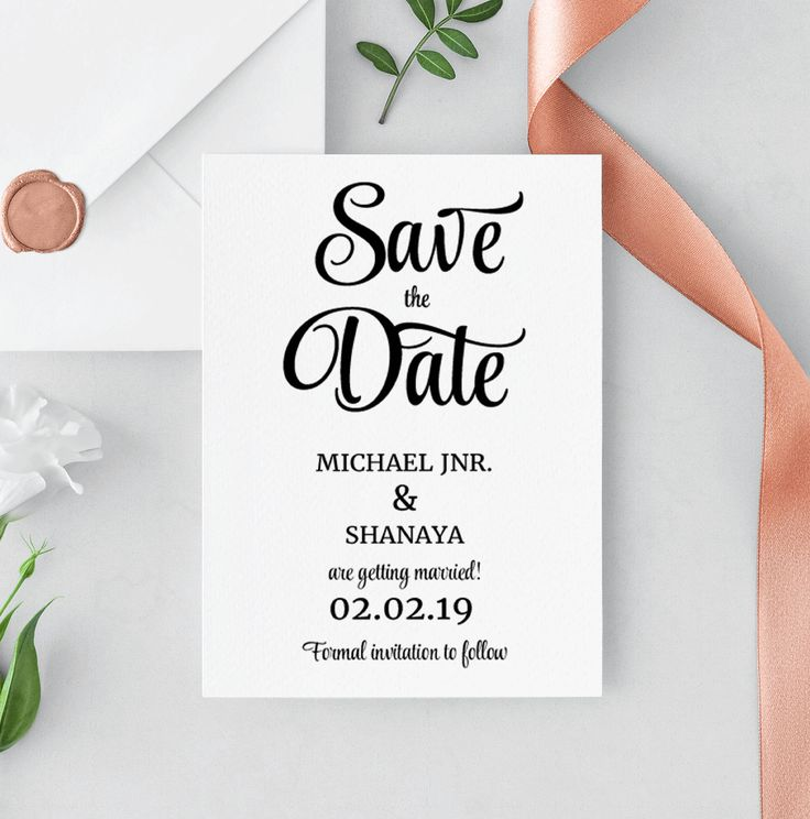 Save The Date Template, Save The Date Printable, Save The