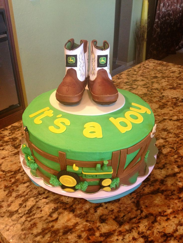 John Deere baby shower cake. I must show this to Emily and Mrs. Murillo!