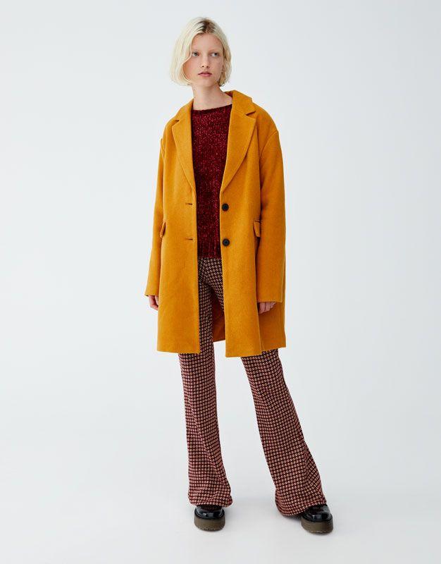 Basic Kumaş Kaban Pullbear Benim Ol 2019 Pinterest