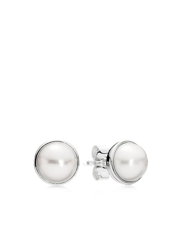 "Pandora Earrings - Sterling Silver & Glass Studs | Imported | Style #290727P | 0.3"" diameter 