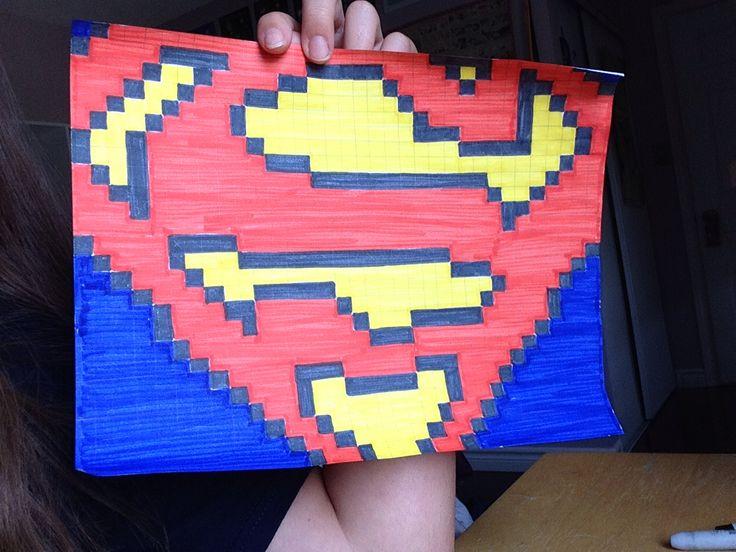 Superman pixel art