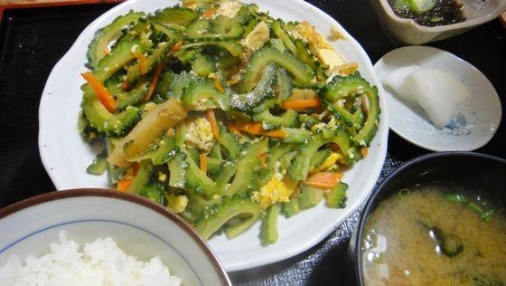 OKINAWA food Goya Champuru awesome breakfast.