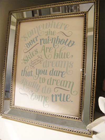 I love this for Ava's room. I used to always sing this when I rocked her! awww