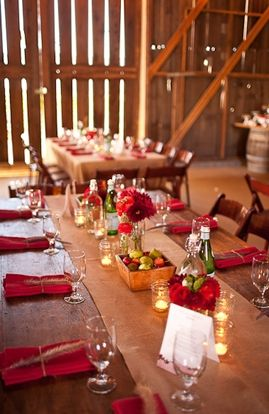 Barn Wedding ~ table scape