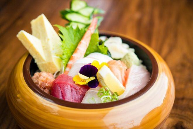 Sashimi from Sushi Roku in Newport Beach