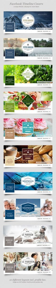 "10 Facebook Timeline Covers Template PSD <a class=""pintag"" href=""/explore/design/"" title=""#design explore Pinterest"">#design</a> Download: <a href=""http://graphicriver.net/item/10-facebook-timeline-covers/12151624?ref=ksioks"" rel=""nofollow"" target=""_blank"">graphicriver.net/...</a>"