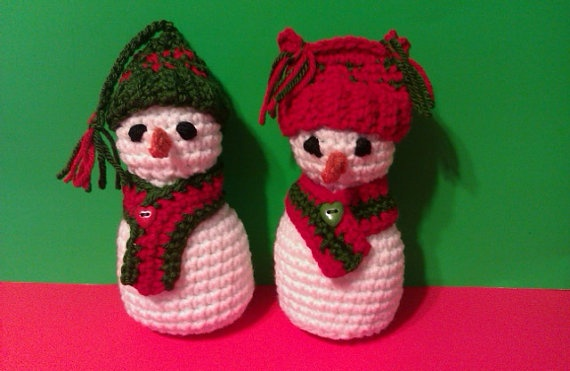 Snow beauties Crocheted amigurumi  Mr snowman and by MadebyMily, $15.00: Christmas Decoration, Snow Beauty, Crochet Amigurumi, Beauty Crochet, Wife Christmas