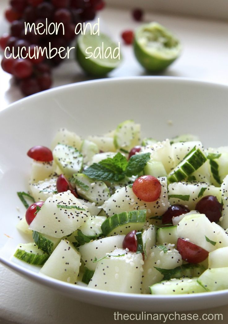 Melon and Cucumber Salad - The Culinary Chase