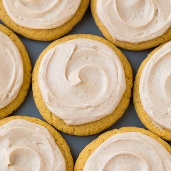 Pumpkin Sugar Cookies with Cinnamon Cream Cheese Frosting Recipe