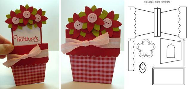 Tarjeta floral para felicitar el Día de la Madre [con plantilla para descargar e imprimir]