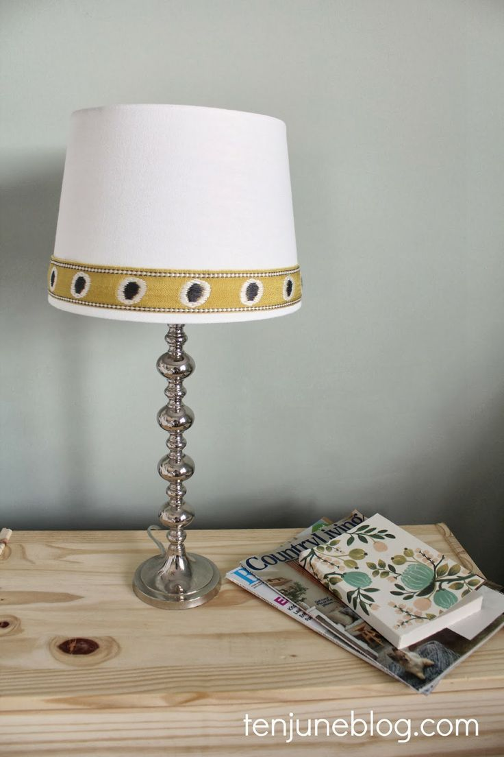how to put trim on a lampshade