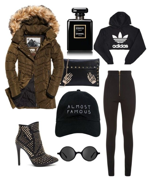 Rainy day by elenazaharia on Polyvore featuring polyvore, fashion, style, adidas, Superdry, Balmain, Nasaseasons, Muse, Chanel and clothing #superdry