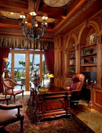 Mediterranean design - Home Office - Simmons and Saray Interiors -