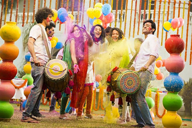 Geared up and ready to roll. Behold the amazing festival of colours!