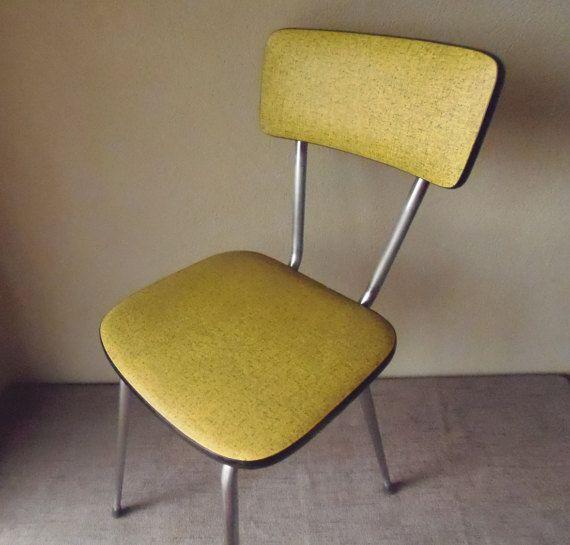 chaise de cuisine franais 1950 vintage rtro par queenbeebrocante - Chaise De Cuisine Retro