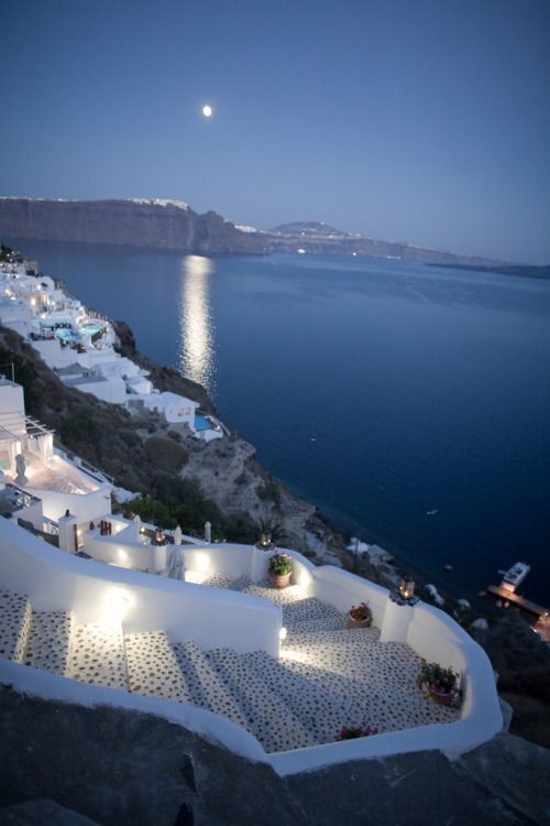 Oia - Santorini - Greece....... Relax with this nature photo. #Relax more with this #free #music with #BinauralBeats that can #heal you. #landscaping #LandscapingIdeas #landscapeDesign