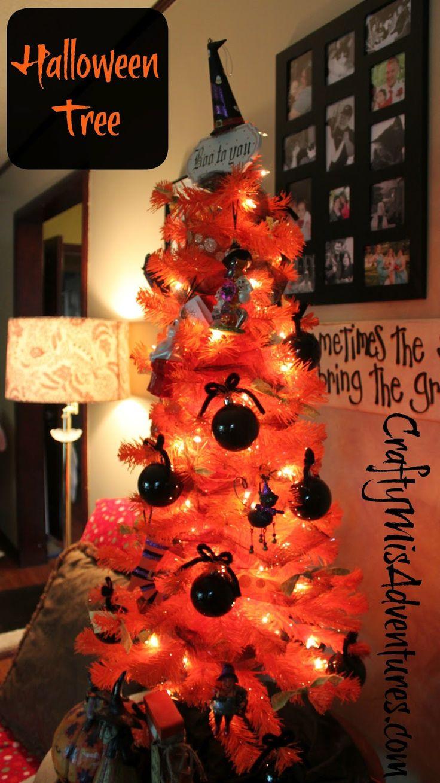 Pre-lit Black Tree Halloween Pinterest Trees, Halloween - halloween tree decoration