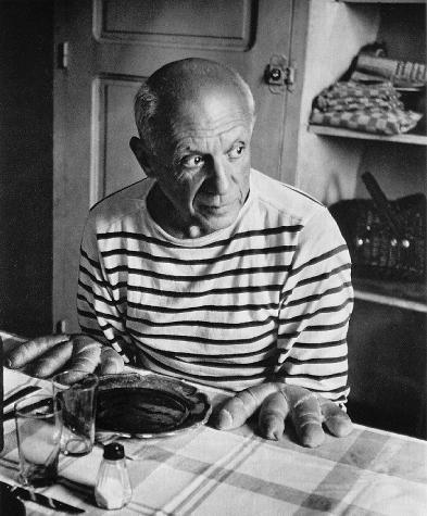 Robert Doisneau - Les Pains De Picasso 1952