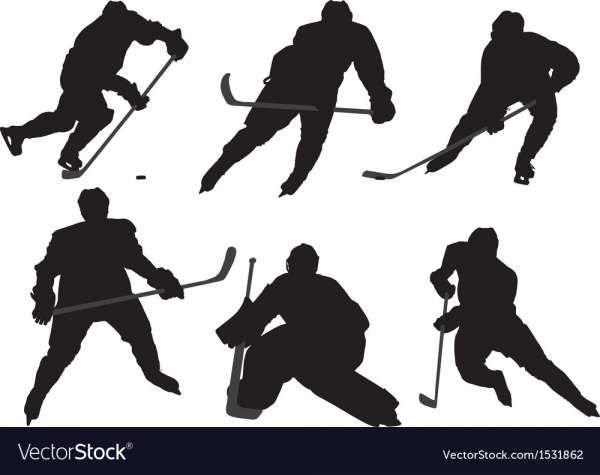 16 Hockey Player Vector Hockey Players Hockey Ice Hockey Players