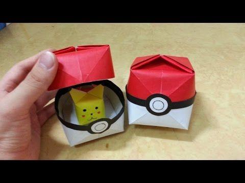 517 포켓몬 GO (포켓볼)2 - 1 색종이접기 Origami pokeball 종이접기 Pokemon Go 포켓몬 고 볼 摺紙 折纸…