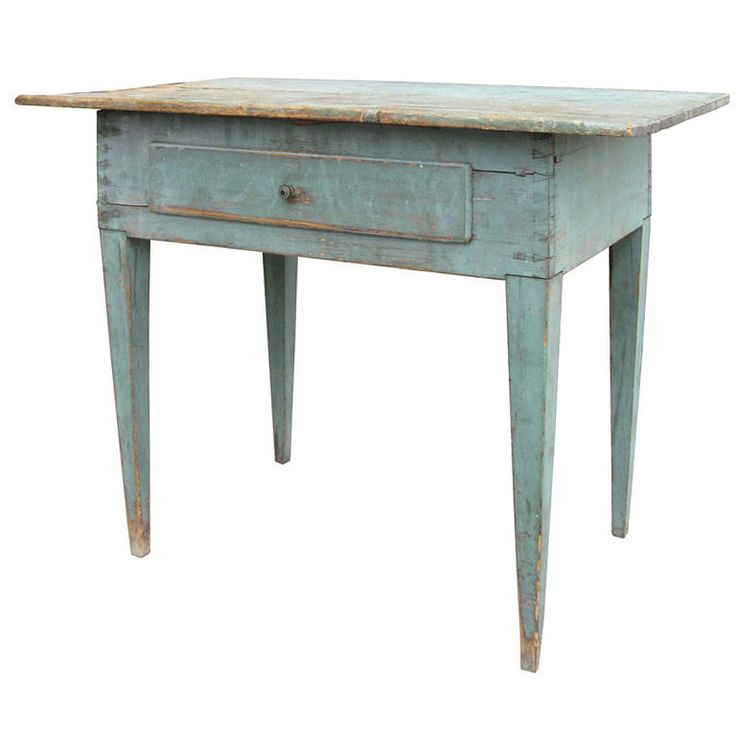 Superior 18th/19thc Swedish Painted Side Table