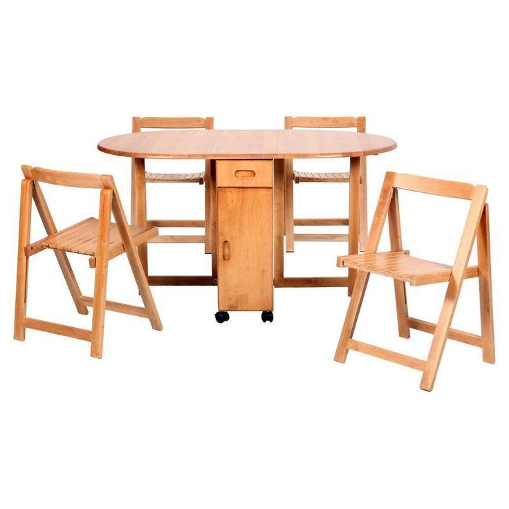 Oval Dining Table Set 4 Chair Wooden Extendable Storage Wheels Kitchen Furniture