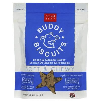 Cloud Star Buddy Biscuits Bacon & Cheese, Soft & Chewy - 6 oz