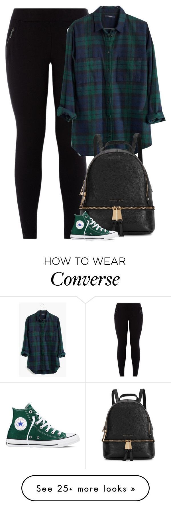 """Giovanna"" by fanny483 on Polyvore featuring Madewell, Michael Kors, Converse, women's clothing, women, female, woman, misses and juniors"
