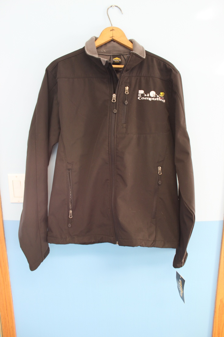 I digitized and embroidered our logo on a jacket for me today!  http://www.pqcomp.com/ or Find us on Facebook!  http://www.facebook.com/pages/Ps-Qs-Computing/183567374995240
