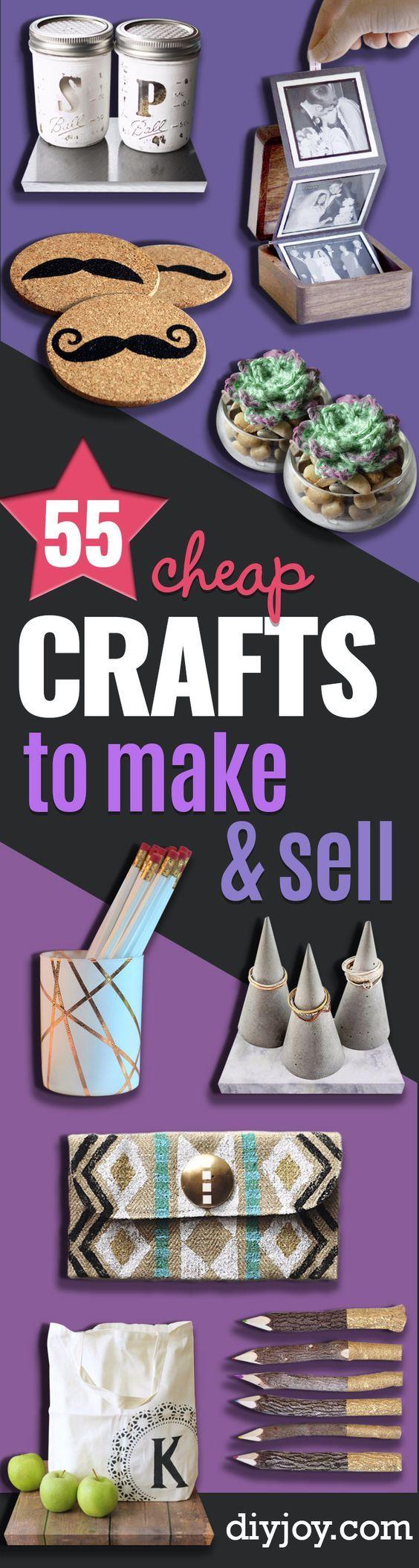 Manualidades económicas para fabricar y vender - Ideas baratas para Proyectos del arte de DIY Usted puede hacer y vender en Etsy, en ferias de artesanía, en línea y en las tiendas.  Las ideas de bricolaje rápido y barato que los adultos e incluso adolescentes pueden hacer en un presupuesto http://diyjoy.com/cheap-crafts-to-make-and-sell