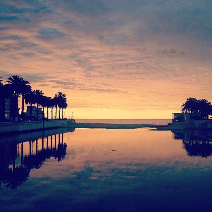 Viña del mar, sunset in Chile