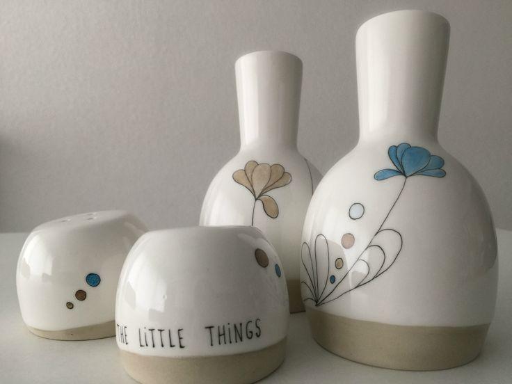The little things - Peinture sur porcelaine