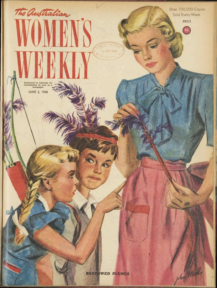 Issue: 5 Jun 1948 - The Australian Women's Weekly.. cowboys and indians...I was always Annie Oakley