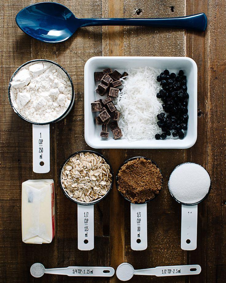 Blueberry Coconut Dark Chocolate Cookies