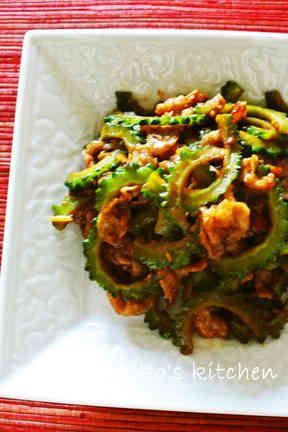 ゴーヤと豚バラ肉の甜麺醤炒めの画像