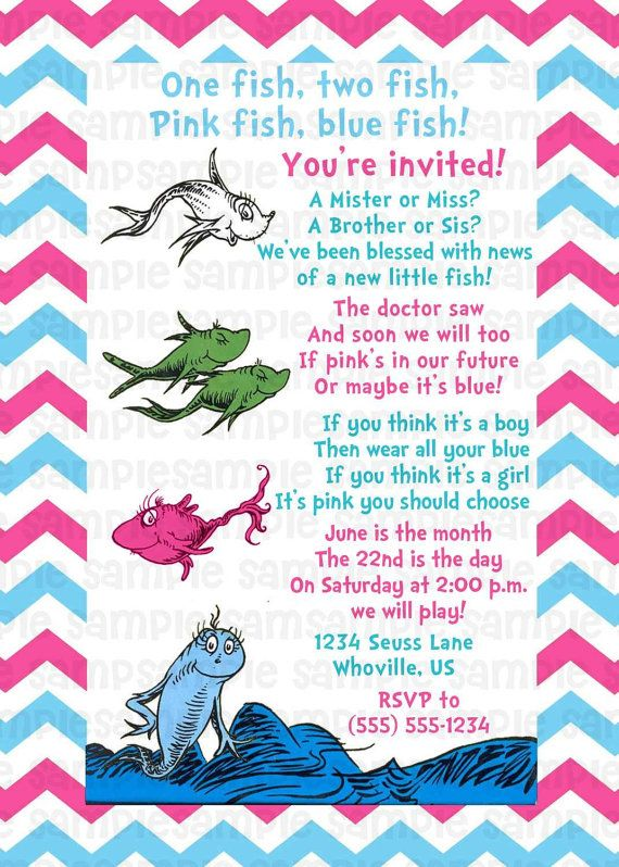 Hey, I found this really awesome Etsy listing at https://www.etsy.com/listing/161692861/dr-seuss-one-fish-two-fish-gender-reveal