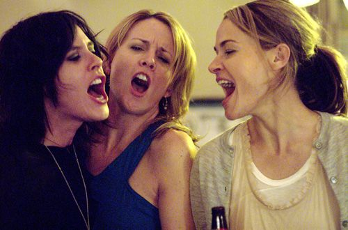"The L Word - Season 5, ""Lookin' at You, Kid"" - Katherine Moennig as Shane, Laurel Holloman as Tina, Leisha Hailey as Alice  ---  awesome photo!"