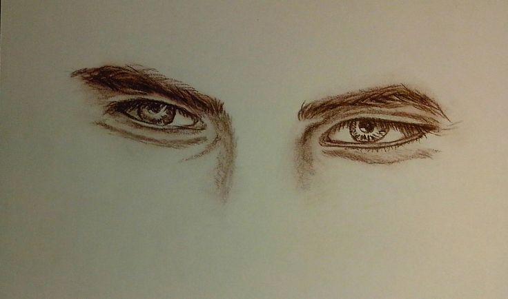 #drawing #sepia #eyes