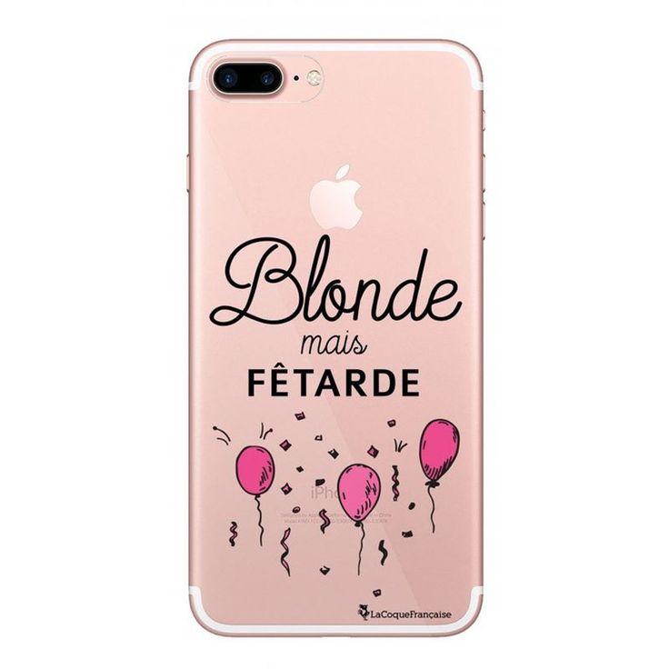 Coque Iphone 7 Plus / 8 Plus Rigide Transparente Blonde Mais Fêtarde Ecriture T…