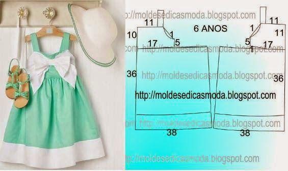 Moldes Moda por Medida: VESTIDO DE CRIANÇA-10