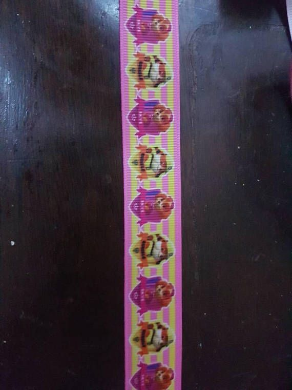 Check out this item in my Etsy shop https://www.etsy.com/ca/listing/595554321/paw-patrol-inspired-grosgrain-ribbon